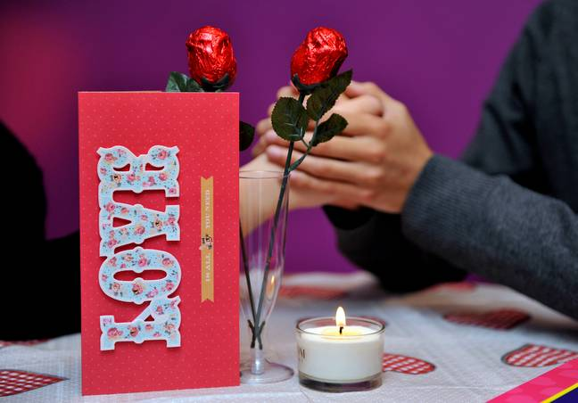 More than 100,000 men are expected to get down on one knee on Valentine's Day. Credit: PA
