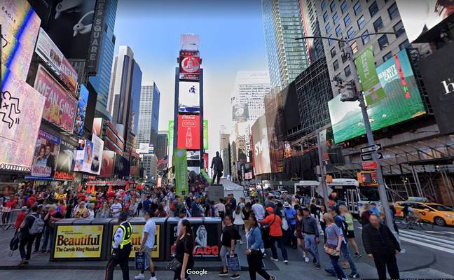 Time Square in 2019. (Credit: Google Maps)