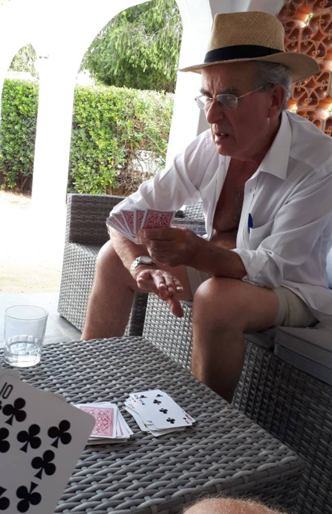 Most of the week was spent relaxing on the beach or playing cards. Credit: LADbible