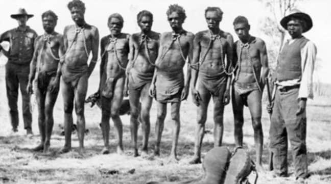 Aboriginal prisoners in Western Australia in 1930. Credit: State Library of Western Australia
