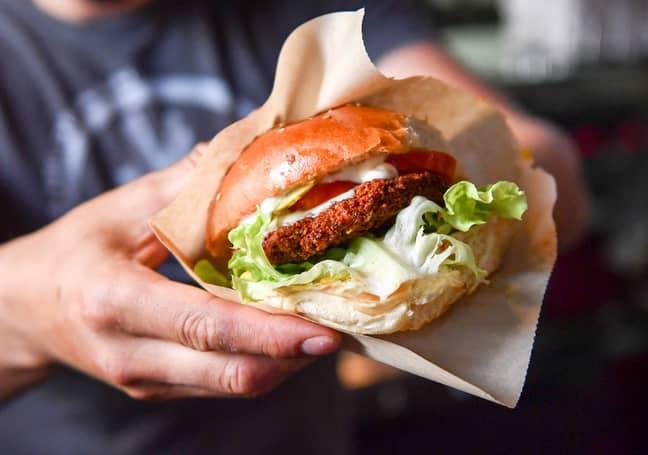 Vegan burger. Credit: PA