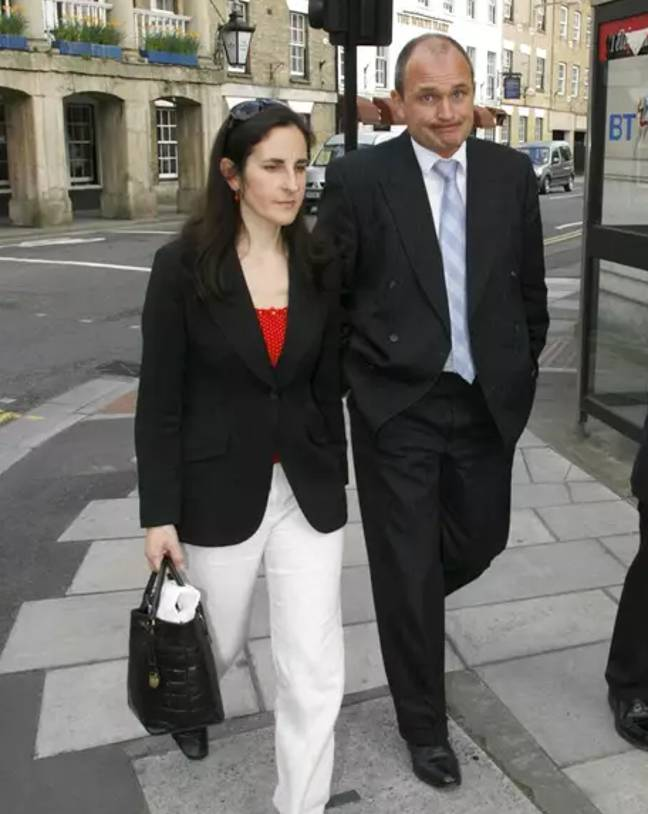 The Ingrams on their way to trial. Credit: PA