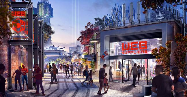 The Avengers Campus will open on 18 July. Credit: Disney/Marvel