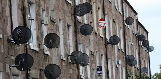 Views of satellite dishes outside building may be a thing of the past. Credit: PA