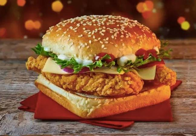 McDonald's also has a new chicken burger for Christmas. (Credit: McDonald's)