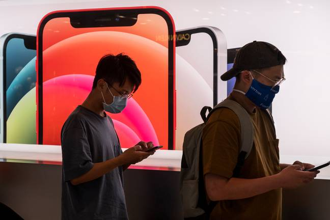 The new iPhone update will make it easier to unlock the device while wearing a mask. Credit: PA
