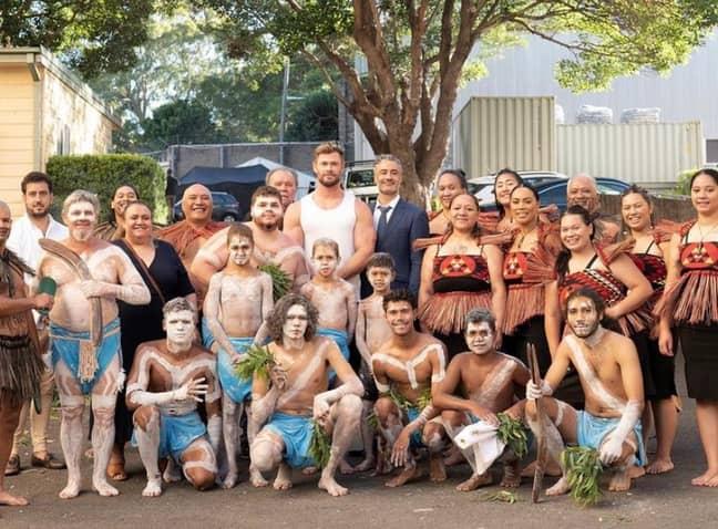 Love and Thunder cast landed in Australia in January (Credit: Twittter/TaikaWaititi)
