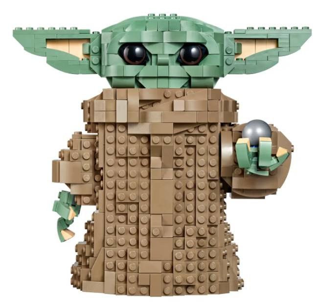 This is another Lego Baby Yoda that you can buy - not life-sized, but still cute. Credit: Lego