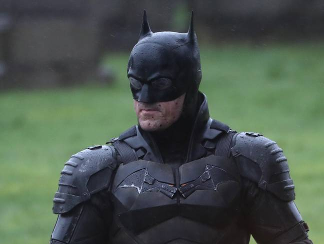 Filming for The Batman at Glasgow Necropolis cemetery back in February. Credit: PA