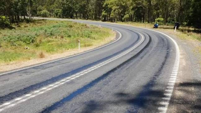 The roads have been melting in Australia. Credit: Bobby Dyer/Facebook