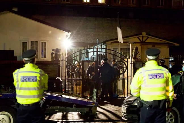 Last week, police were called to a wake in North London where more than 100 people had gathered. Credit: SWNS