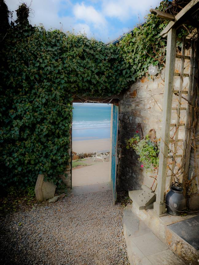 A door from the hotel to the beach. Credit: Alamy
