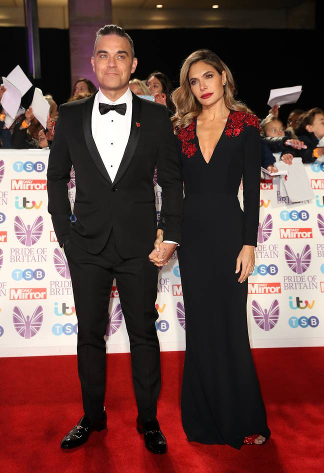 Robbie admitted he had just slept with his drug dealer when he met Ayda. Credit: PA