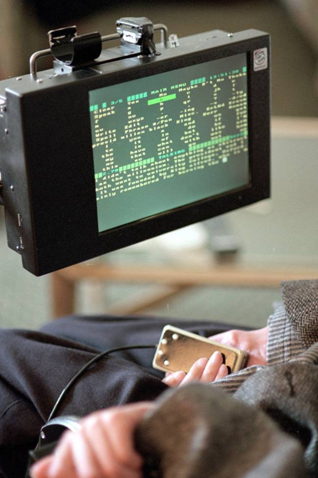 The electronic speech synthesiser which gave Hawking the ability to communicate with speech. Credit: PA