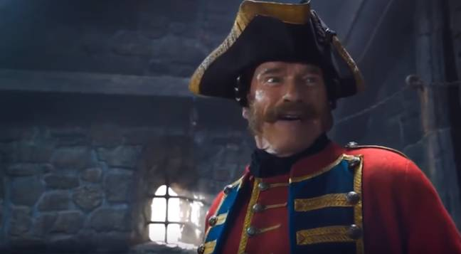 Arnie as the sea captain. Credit: Universal