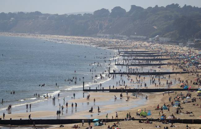Thousands flocked to the beaches today. Credit: PA