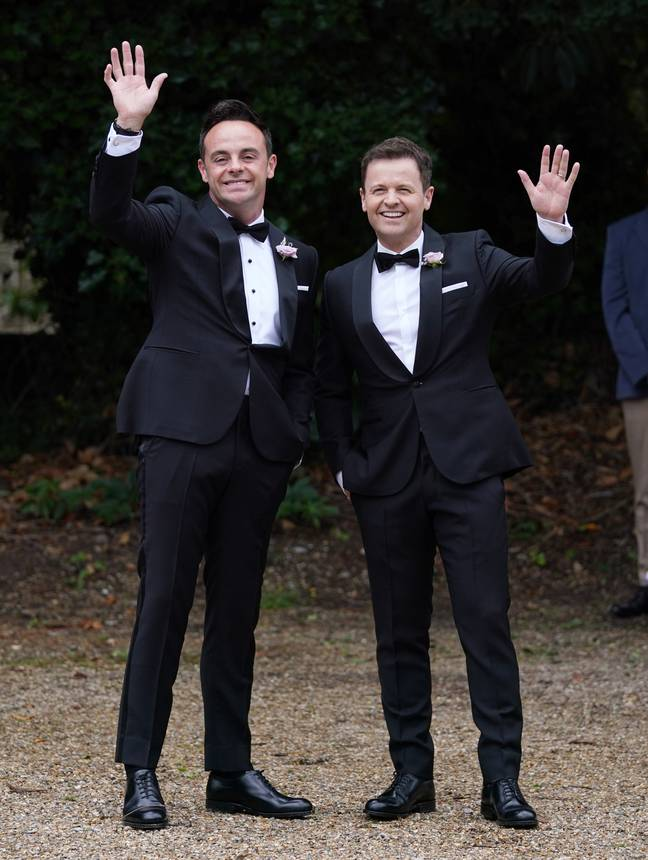 Declan Donnelly is Ant's best man. Credit: PA