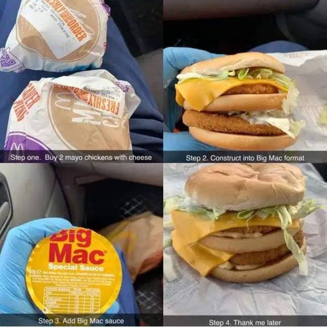 The McDonald's hack was shard on Facebook. Credit: Bradley Clements