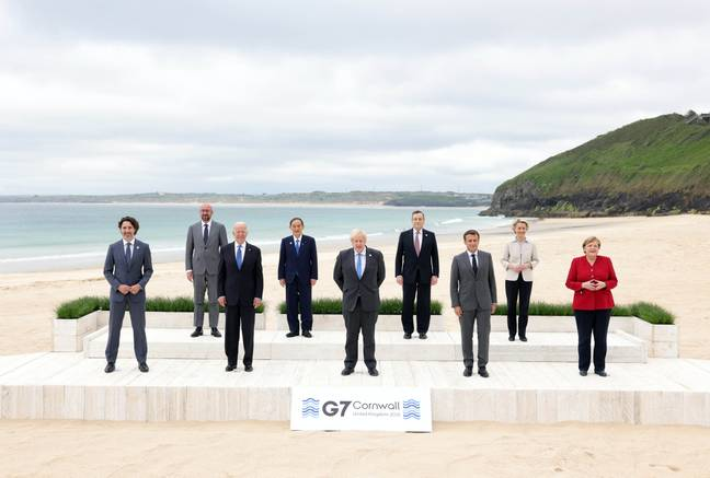 G7 Summit in Cornwall, June 2021. (Credit: PA)