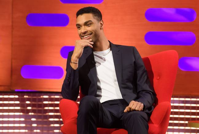 Rege-Jean Page on the Graham Norton Show in 2021. (Credit: PA)