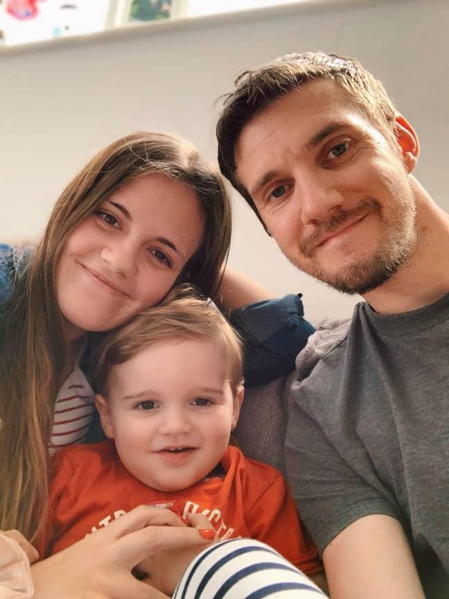 Mark and Ashleigh Stevenson with son Grayson. Credit: The Stevenson Life
