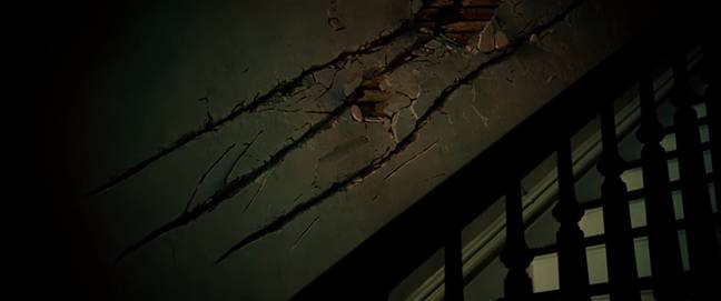 We don't know what the monsters look like but they sure can scratch a mark in a wall. Credit: Paramount Pictures