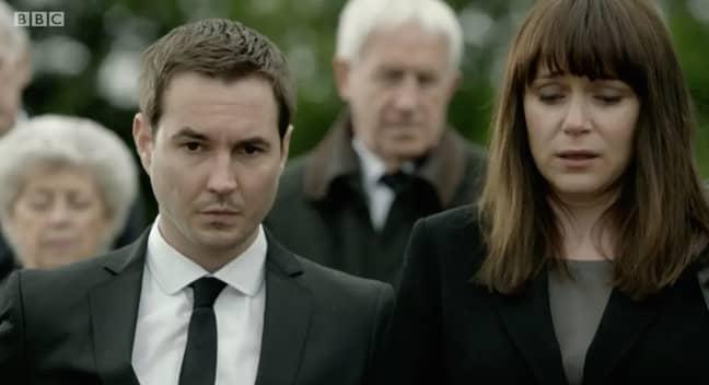 Martin accidentally spoiled the return of Lindsay Denton. Credit: BBC