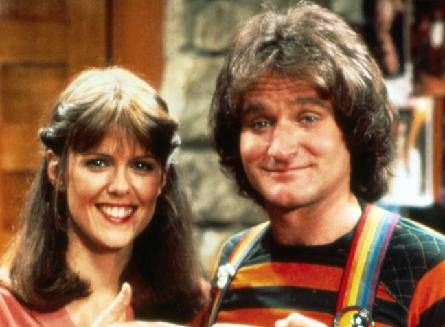 'Mork & Mindy', featuring Williams and Pam Dawber. Credit: ABC
