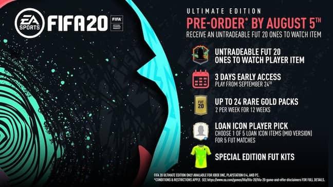FIFA 20 Ultimate Edition Credit: EA