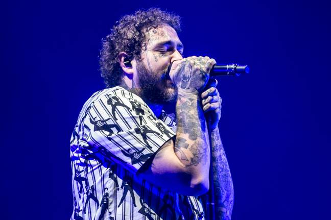 Post Malone is running out of tattoo space. Credit: PA
