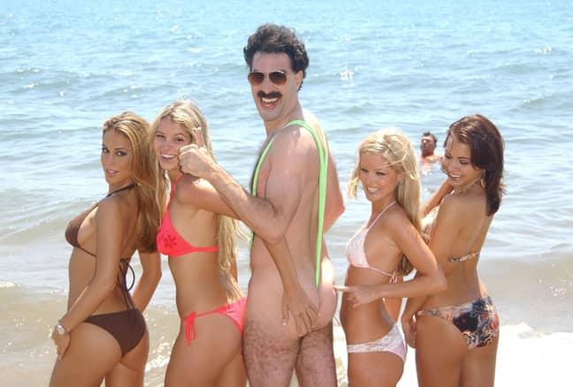 Sacha Baron Cohen played the highly entertaining character Borat. Credit: PA
