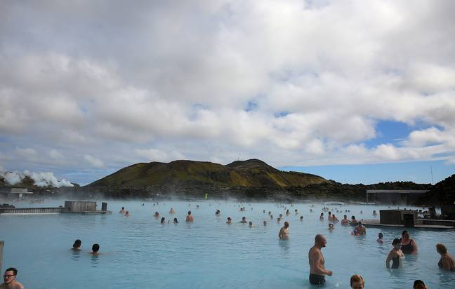 The Blue Lagoon spa in Iceland. Credit: PA