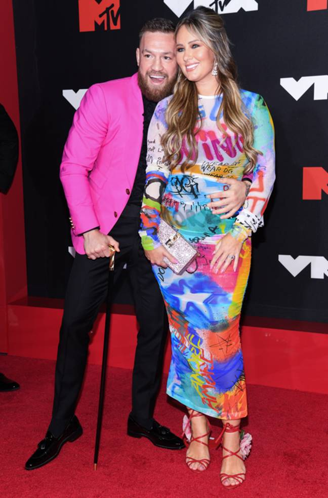 McGregor on the VMAs red carpet with partner Dee Devlin. Credit: PA