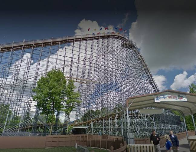 The Voyager roller coaster. Credit: Google Street View