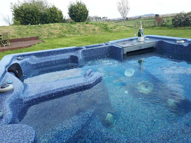 Grafton Farm comes with a hot tub. Credit: SWNS