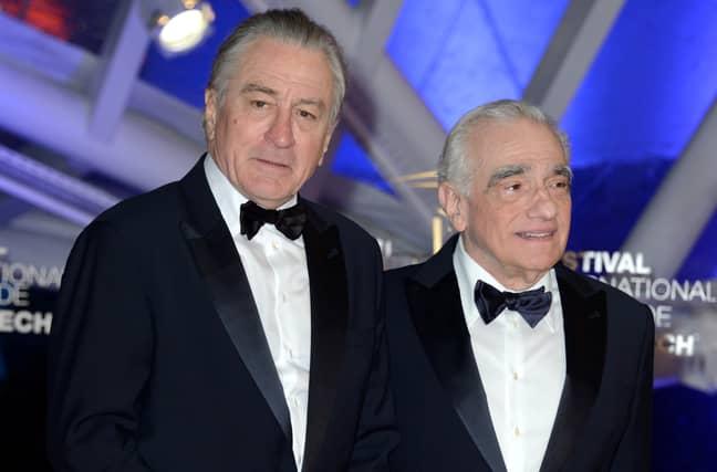 Robert De Niro with Martin Scorsese. Credit: PA