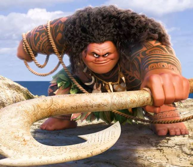 People have been surprised to learn the origin of the character Maui. Credit: