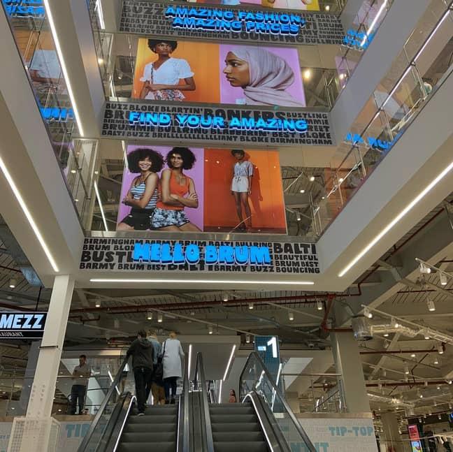 The store has five floors. Credit: Birmingham Retail BID