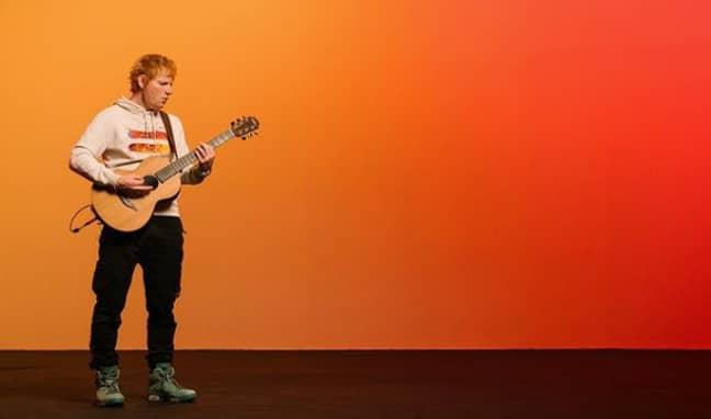 Ed Sheeran's unofficial '=' merchandise. (Credit: Instagram/@teddysphotos)