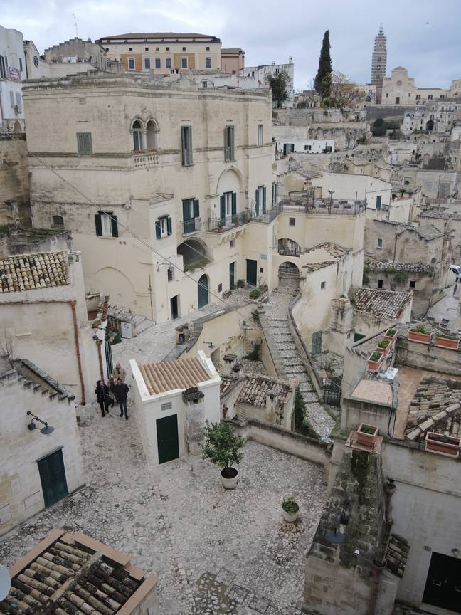 Matera, the Italian city used to film the scene. Credit: PA
