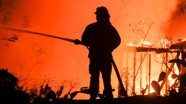 The California wildfires that ravaged the state in November last year. Credit: PA