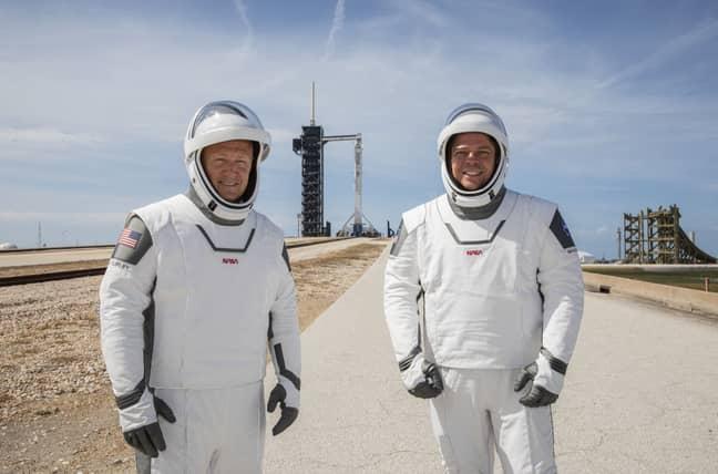 NASA astronauts Douglas Hurley (left) and Robert Behnken. Credit: PA