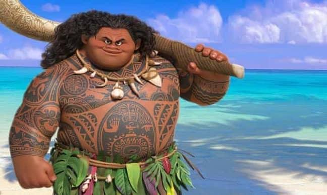 Dwayne Johnson voiced Maui in Moana. Credit: Disney