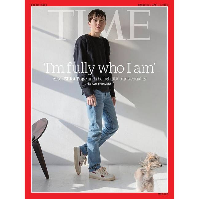 Page appeared on the front of TIME magazine. Credit: TIME