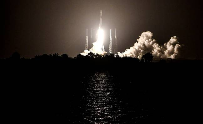 SpaceX launched a Falcon 9 rocket earlier this month. Credit: PA