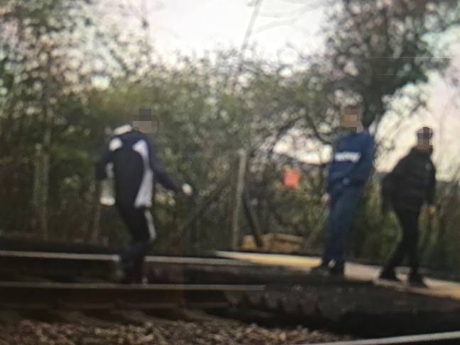 Young people appear to be trespassing on railway tracks more regularly. Credit: Network Rail