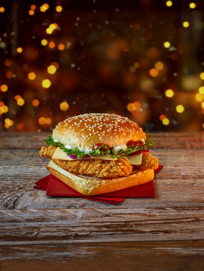 This year's menu includes a new addition for the festive period. Credit: McDonald's