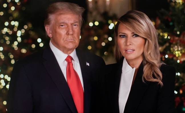 Trump with wife Melania. Credit: PA