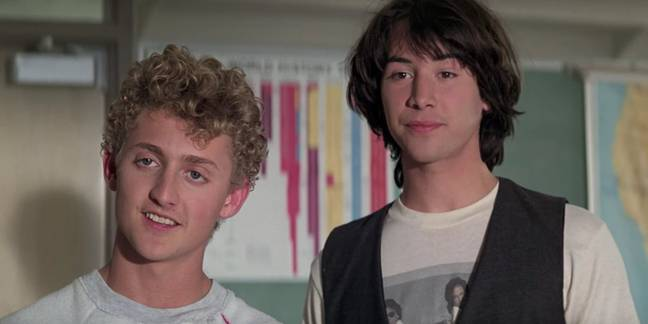 Keanu Reeves in Bill and Ted. Credit: Orion Pictures