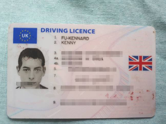 He managed to get a driving licence without trouble. Credit: SWNS